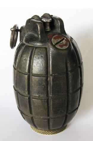 Mills bomb type hand grenade